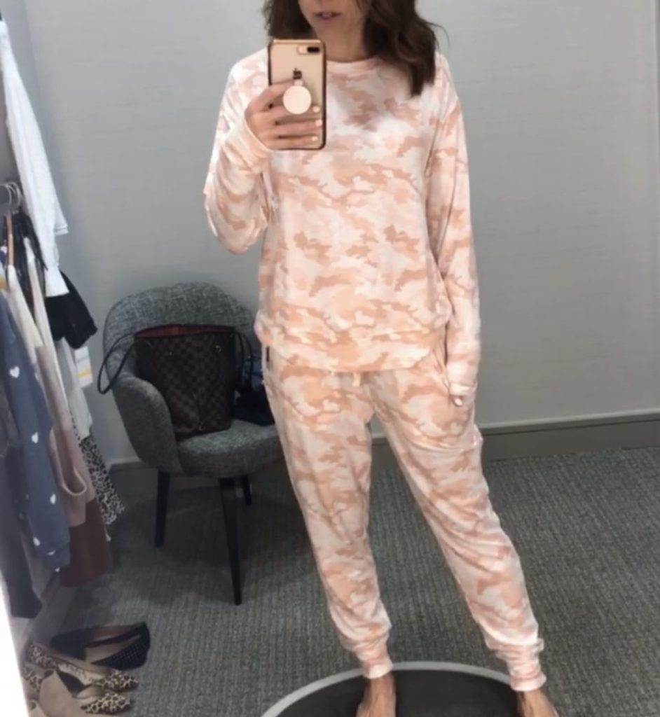 Nordstrom Anniversary Sale 2019: Fitting Room Try-On Session & My Favorite Under $100 finds! by popular Florida fashion blog, The Modern Savvy: image of woman inside a Nordstrom dressing room wearing a BP Cozy Top, BP and BP Cozy Joggers.