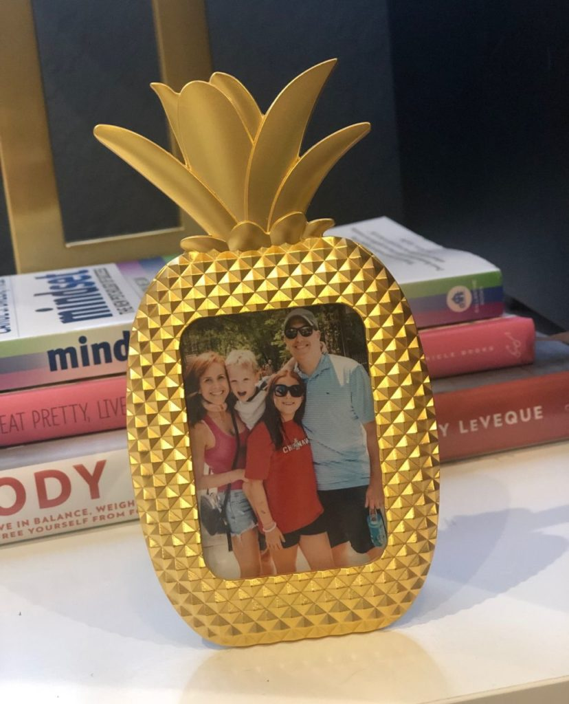 What to Get at the Lilly Pulitzer After Party Sale by popular Florida fashion blog, The Modern Savvy: image of a Lilly Pulitzer Pineapple picture frame.