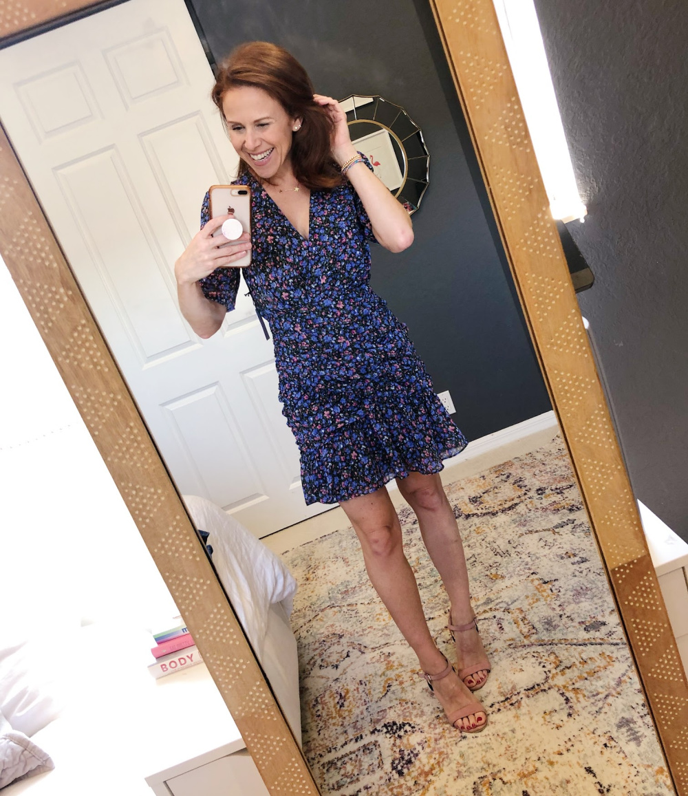 Early Fall / Florida Fall Fashion Ideas from my Latest Trunk Club by popular Florida fashion blog, The Modern Savvy: image of a woman wearing Nordstrom Astr the Label  Shirred Minidress.